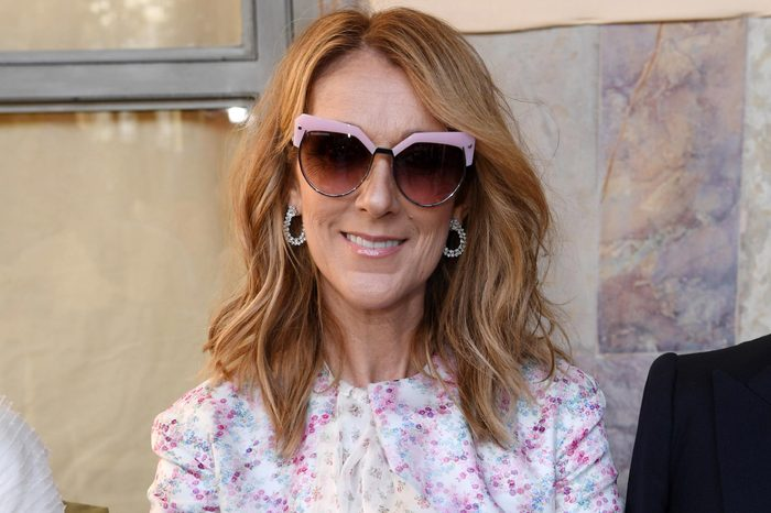 Celine Dion in the front row