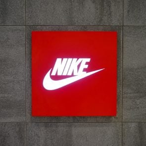 Shanghai.China-ARP. 26.2016;Nike LOGO in shanghai.nike is the first brand in China.