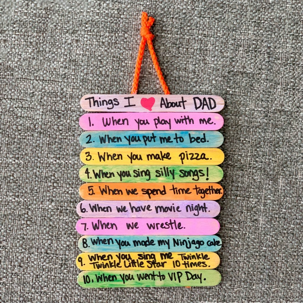 popsicle stick fathers day craft