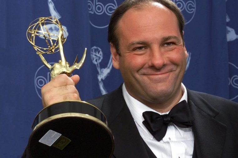 "James Gandolfini Actor James Gandolfini holds his award for outstanding lead in a drama series for his work in ""The Sopranos"" at the 52nd Annual Primetime Emmy Awards in Los Angeles. Gandolfini died, in Italy. He was 51"