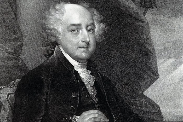 John Adams, President of the United States of America. Adams was the second president of the United States having already served as the country's first vice president. He was also one of America's Founding Fathers.