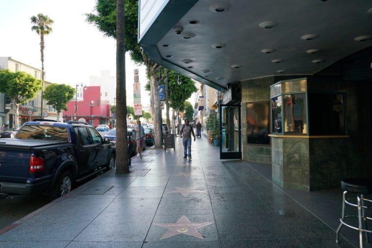 Los Angeles, California, USA - JUNE 25, 2017: Hollywood Walk of Fame