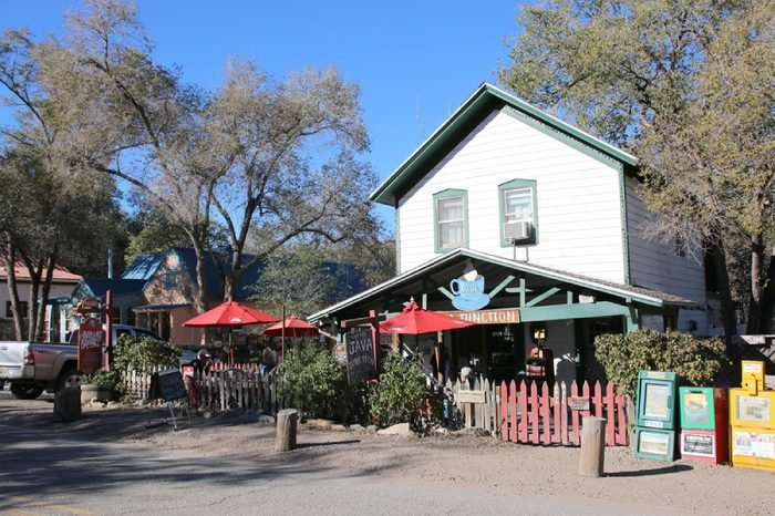 MADRID - NEW MEXICO, UNITED STATES OF AMERICA - 2 november 2016 - Traditional and colorful cafe in the village of Madrid in New Mexico, United States of America(USA).