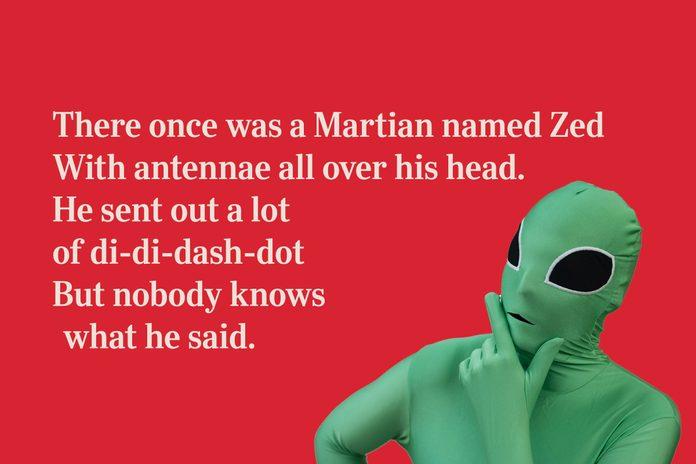 Martian limerick