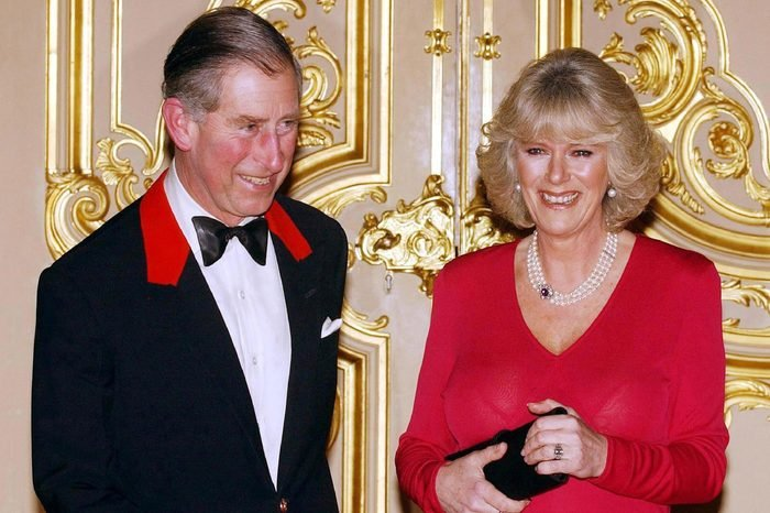 PRINCE CHARLES AND CAMILLA PARKER BOWLES AT WEDDING ANNOUNCEMENT PHOTOCALL WINDSOR CASTLE BERKSHIRE, BRITAIN - 10 FEB 2005