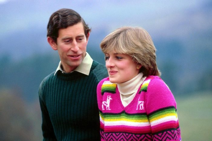 PRINCE CHARLES AND LADY DIANA SPENCER IN THE GROUNDS OF BALMORAL CASTLE SCOTLAND ON A PRE HONEYMOON - 1 MAY 1981