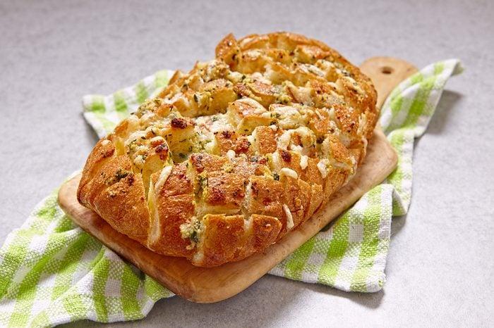 Fresh pull apart cheese and garlic bread