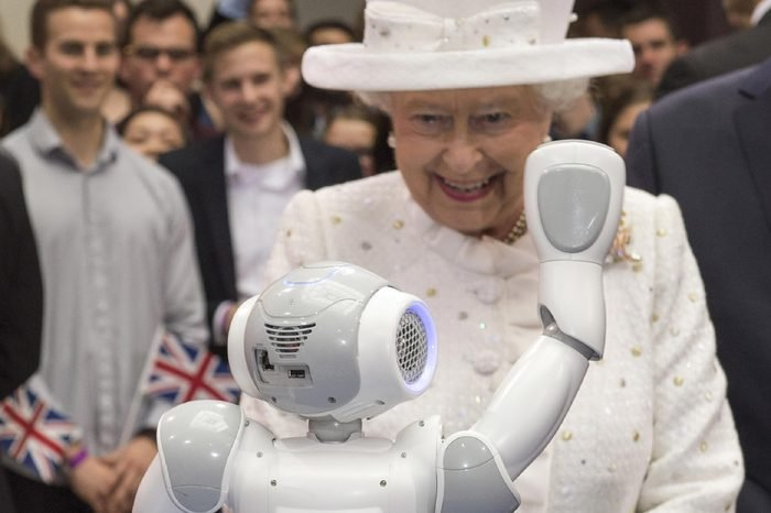 Queen Elizabeth II attended the 50th anniversary of the Queens Lecture at Berlin's University of Technology