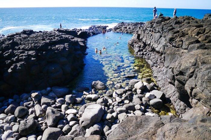 A beautiful day at the Queen's bath, Kauai Hawaii