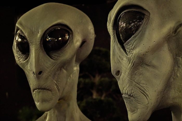 ROSWELL, NEW MEXICO - MARCH 28: Aliens on display at the International UFO Museum and Research Center in Roswell, New Mexico on March 28th, 2016.
