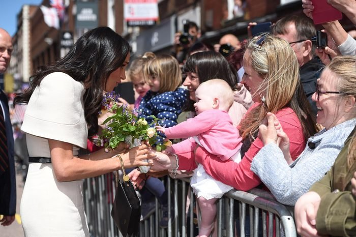 Meghan Duchess of Sussex during her visit to Chester