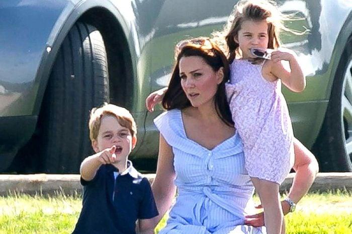 Prince George, Catherine Duchess of Cambridge and Princess Charlotte