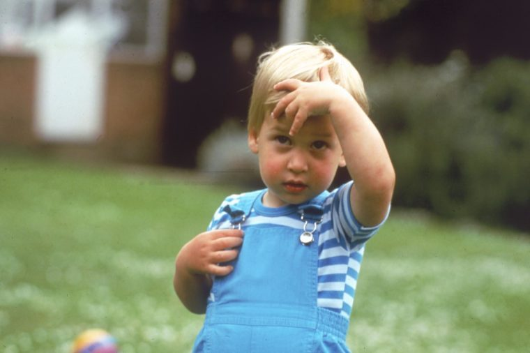 Prince William of Wales Photographed On 12th June 1984 Nine Days Prior to His Second Birthday William Now Duke of Cambridge is the Elder Son of the Prince of Wales and the Late Diana Princess of Wales 1984