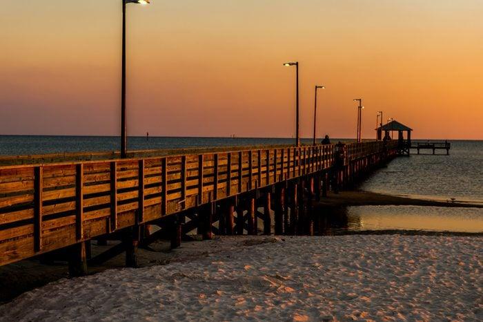 Biloxi Pier at Sunset