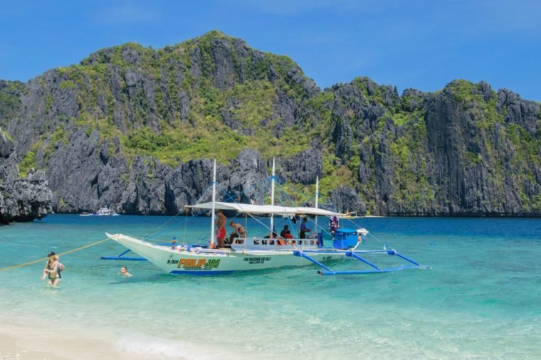 El Nido, Palawan island, Philippines - 05 of March 2018: Boats in El Nido, Palawan island, Philippines