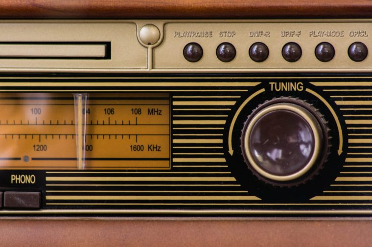 vintage radio detail
