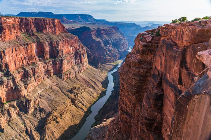 scenic view of Toroweap overlook at sunset in north rim, grand canyon national park,Arizona,usa.