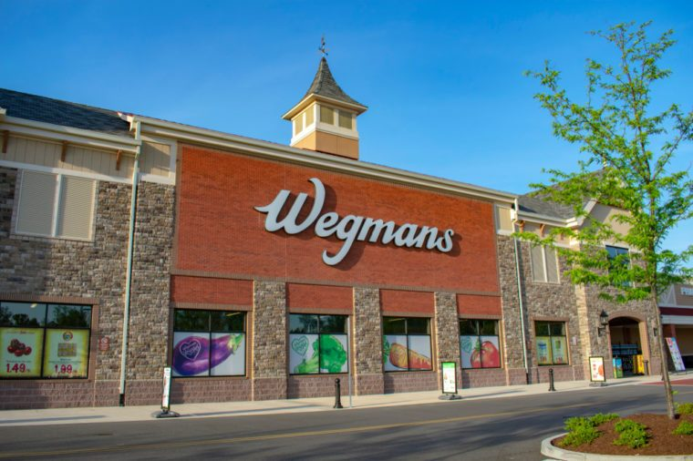 Richmond, VA/USA May 2 2018: Wegmans Grocery Store. Wegmans is a regional supermarket chain headquartered in Rochester, NY.