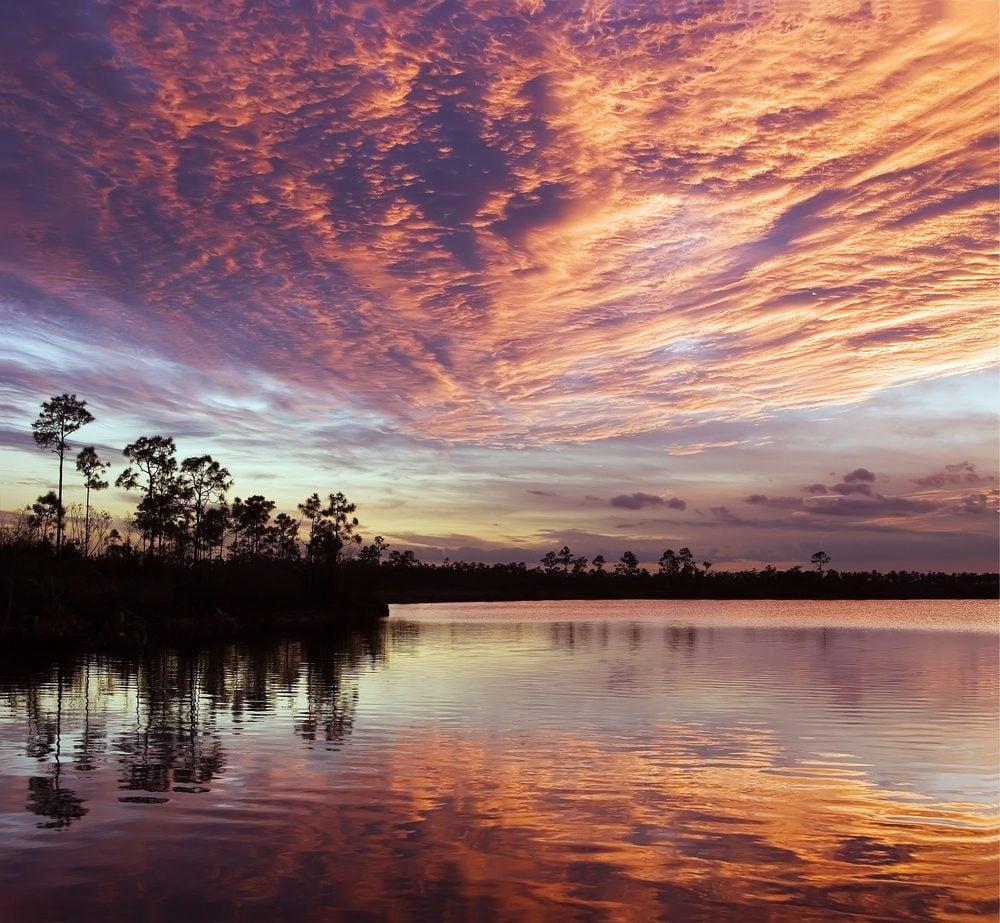 Sunset on Pine Lake, Florida Everglades NP