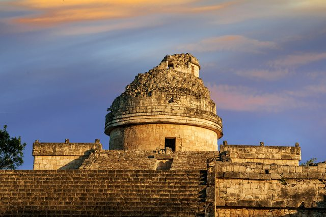 The observatory at Chichen Itza, mexoco, Yucatan