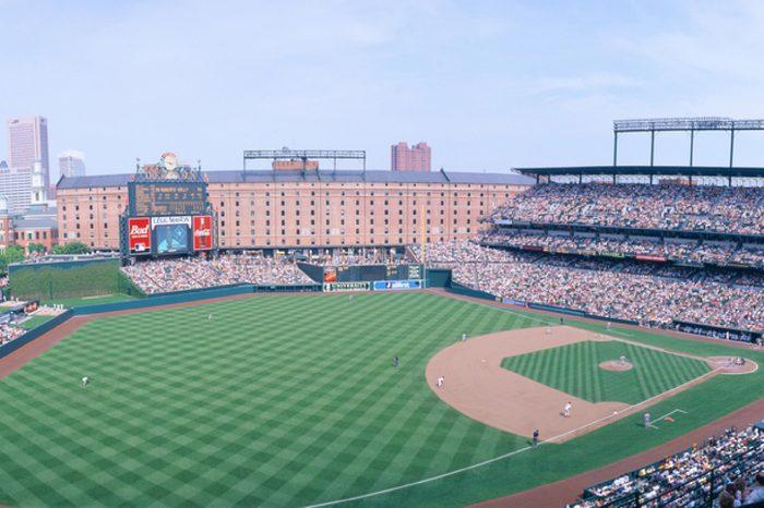 Camden Yard Stadium, Baltimore, Orioles v. Rangers, Maryland