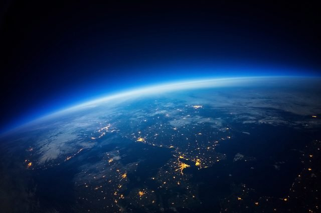 Near Space photography - 20km above ground / real photo (Elements of this image furnished by NASA)