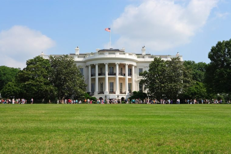 Summer view of the White House, Washington, DC.