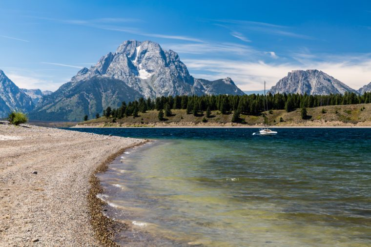 Views of the Jenny and Jackson Lakes in the Grand Teton National Park, Wyoming