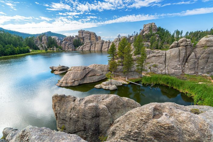 Beautiful Sylvan Lake in Custer State Park