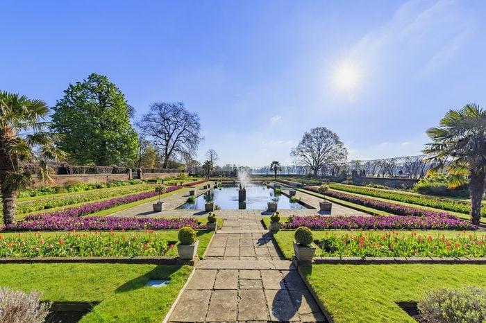 Beautiful landscape around Hyde Park, London, United Kingdom