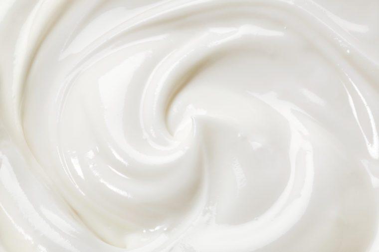swirled yogurt