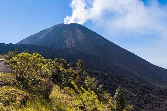 Volcano Pacaya in Guatemala, Central America.