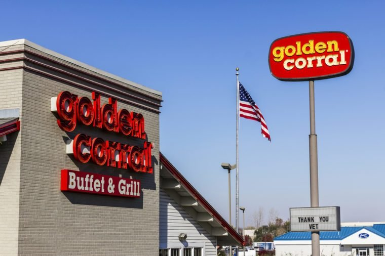 Kokomo - Circa November 2016: Golden Corral Buffet and Grill. Golden Corral serves many free meals to active duty and military veterans IV