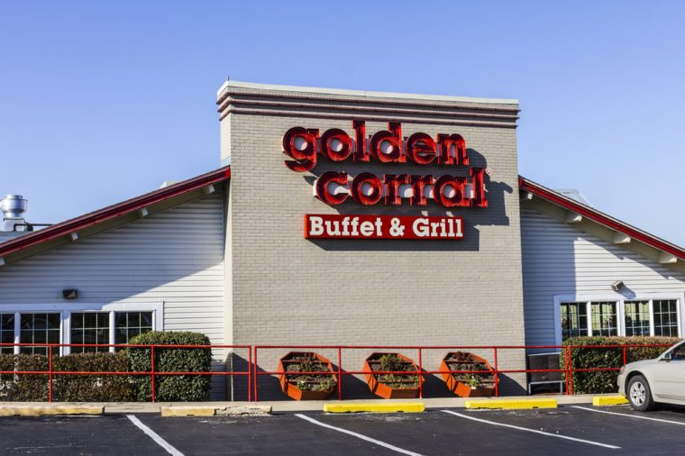 Kokomo - Circa November 2016: Golden Corral Buffet and Grill. Golden Corral serves many free meals to active duty and military veterans II