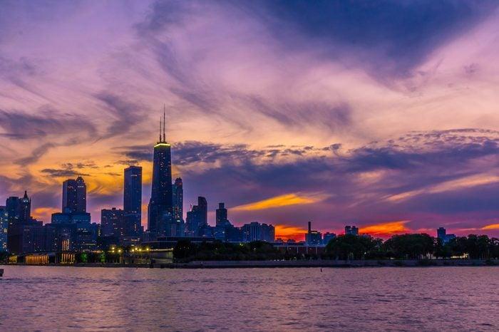 Chicago Skyline on a Summer Evening