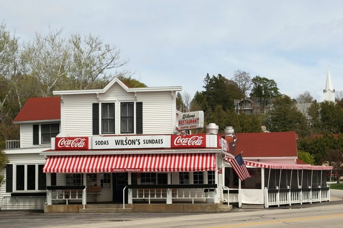 EPHRAIM, WI - MAY 8: Wilson's Restaurant & Ice Cream Parlor, a Door County Establishment since 1906, opens its doors for the summer season on May 8, 2010 in Ephraim, Wisconsin.