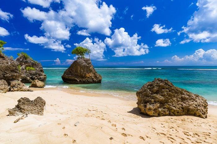 Bingin Beach in Bali Indonesia - nature vacation background