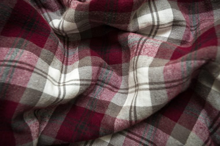Close-up background of plaid with vignetting