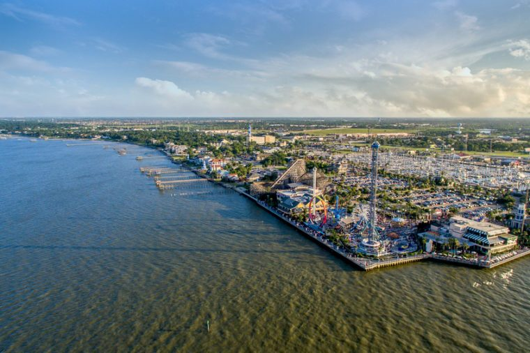 Flying over the Kemah Boardwalk