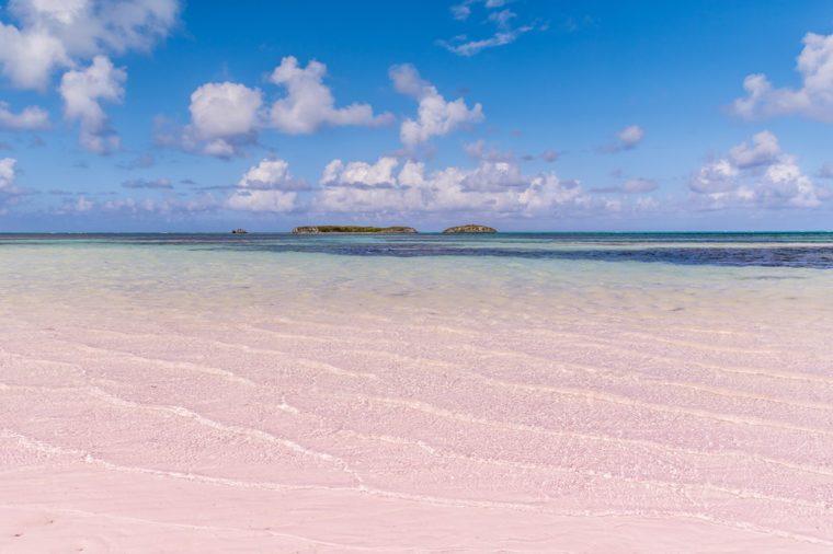 Bahamian Pink sand beach