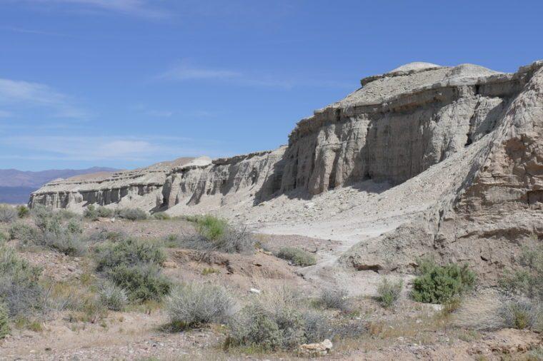 Sandy mud hills near area 51 in Nevada.