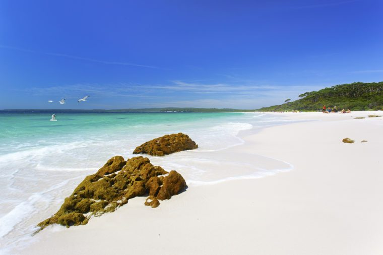 The white sands of Hyams Beach, NSW.