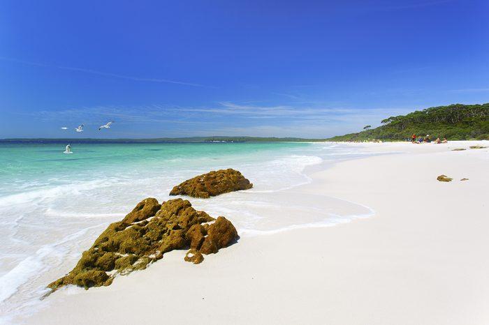 The white sands of Hyams Beach, NSW.
