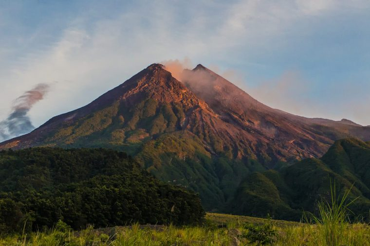 Morning Light on Merapi Vulcano Indonesia
