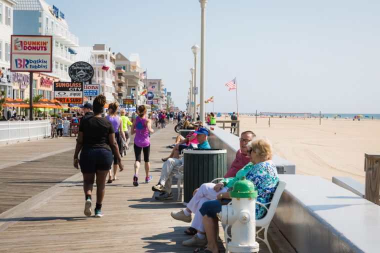 Ocean City, Maryland - May 27, 2017: People enjoy at the seaside