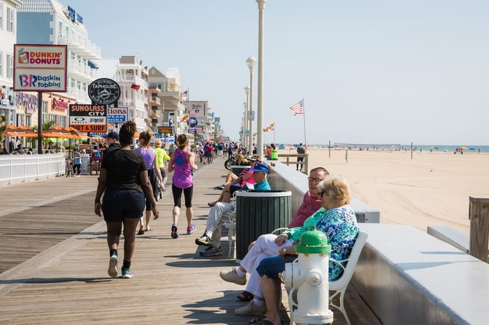 Ocean City, Maryland - May 27, 2017: People enjoy at the seaside