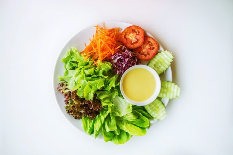 Vegetables and salad dressings