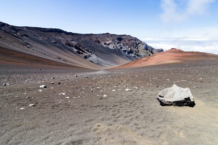 View from the Sliding Sands crater trail in Haleakala National Park on Maui