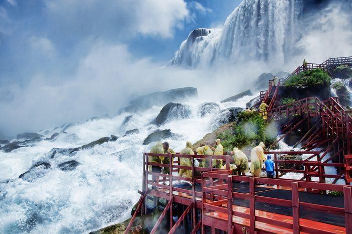 Visitors at Niagara falls