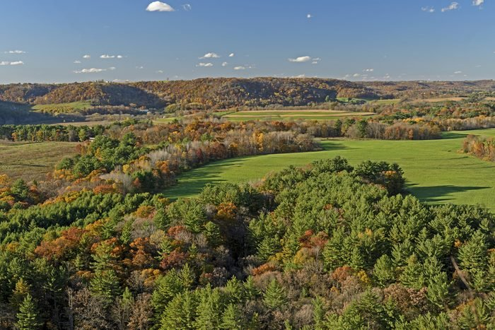 Fall Colors on Rural Farmlands in the Kickapoo Valley of Wisconsin